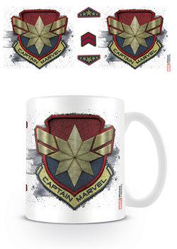 Captain Marvel - Badge Cană
