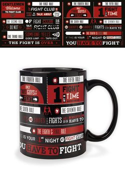 Fight Club - Rules Infographic Cană