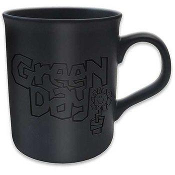 Green Day - Flowerpot Logo Matt Black Cană