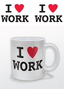 I (heart) Work – I Love Work Cană