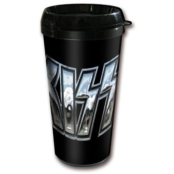Kiss - Chrome Logo Plastic Cană