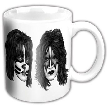 Kiss - Graphite Faces White Cană