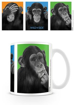Monkeys - see no evil, hear no evil, speak no evil Cană