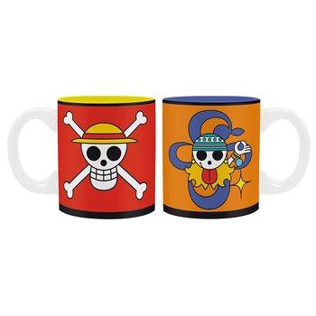 Cană One Piece - Luffy & Nami Emblems
