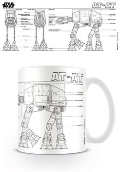 Star Wars - At At Sketch Cană