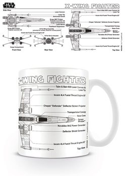 Star Wars - X-Wing Fighter Sketch Cană