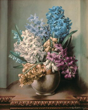 Canvas AB/313 Hyacinths in a Pottery Vase