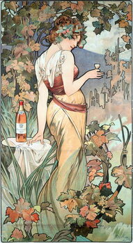 Canvas Advertising poster by Alphonse Mucha  for the Cognac Bisquit