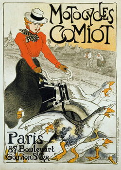 Canvas Advertising poster for Comiot motorcycles.