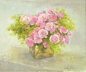 Canvas Alchemilla and Roses, 1999