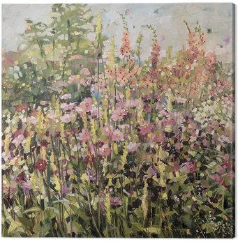 Anne-Marie Butlin - Spring Garden with Cosmos Canvas