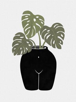 Canvas Body-tanical Vase