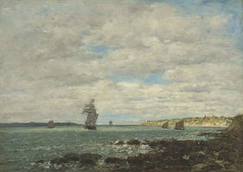 Canvas Coast of Brittany, 1870