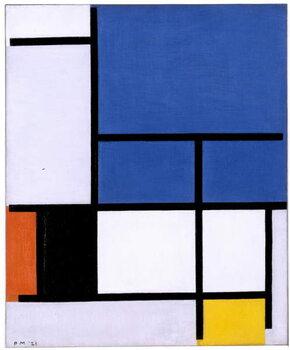 Canvas Composition with Large Blue Plane