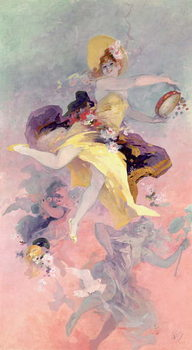 Obraz na plátne Dancer with a Basque Tambourine