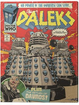 Canvas Doctor Who - The Daleks Comic