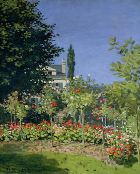 Canvas Flowering Garden at Sainte-Adresse, c.1866