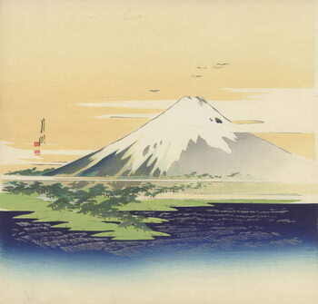 Obraz na plátne Fuji from the beach at Mio