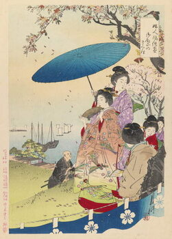 Canvas Geisha in Springtime