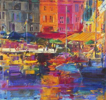 Canvas Honfleur Harbour, 2011