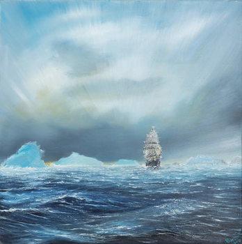 Canvas Ice Dominion, Terra Nova passes Ice Burgs, 2014,