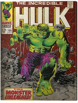 Canvas Incredible Hulk - Monster Unleashed