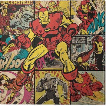 Obraz na plátne Iron Man - Squares