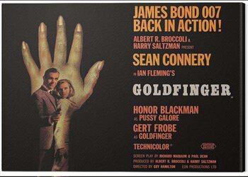Canvas James Bond - Goldfinger - Hand