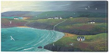 Obraz na plátne Jo Grundy - Coastal Hills