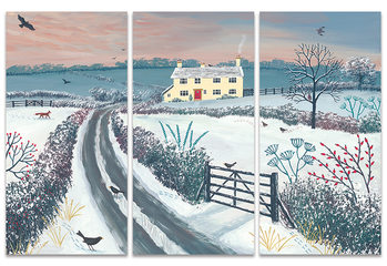 Obraz na plátne Jo Grundy - Coming Home for Winter
