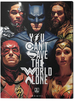 Justice League Movie - Save The World Canvas