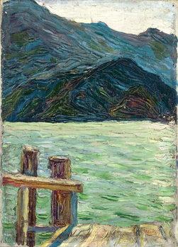 Obraz na plátne Kochelsee over the bay, 1902