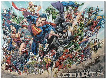 Obraz na plátne Liga Spravodlivosti - Rebirth