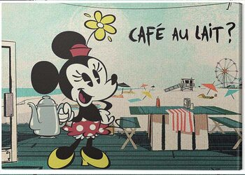 Canvas Mickey Shorts - Café Au Lait?