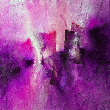 Canvas pink tidal rhythms