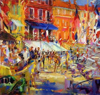 Obraz na plátne Port Promenade, Saint-Tropez