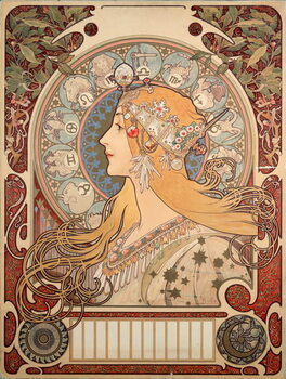 """Canvas Poster by Alphonse Mucha  for the magazine """"La plume"""""""""""