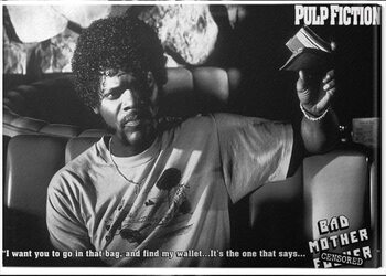 Canvas Pulp Fiction - Bad Mother F**ker