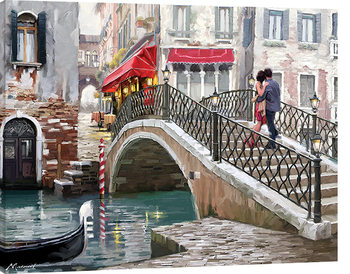 Obraz na plátne Richard Macneil - Venice Bridge