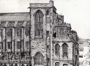 Rylands Library Manchester, 2007, Canvas