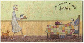 Obraz na plátne Sam Toft - Breakfast in Bed For Doris