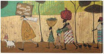 Obraz na plátne Sam Toft - Doris Helps Out on the Trip to Mzuzu