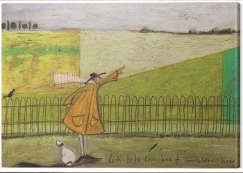Canvas Sam Toft - Let's Take the Bus to Somewhere