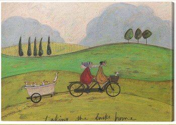 Obraz na plátne Sam Toft - Taking the Ducks Home