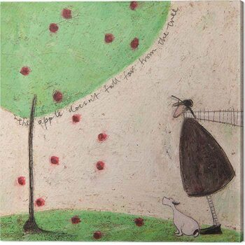 Canvas Sam Toft - The Apple Doesn't Fall From the Tree