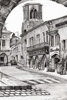 Canvas Sauveterre France, 2010,