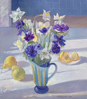 Canvas Spring Flowers and Lemons, 1994