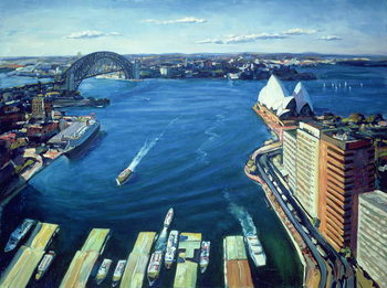 Sydney Harbour, PM, 1995 Canvas