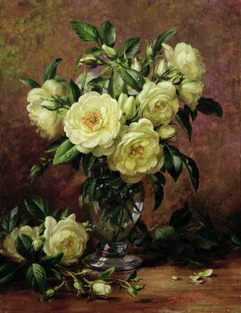 Canvas White Roses