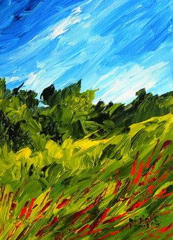 A walk in Puilboro, 2009 Canvas